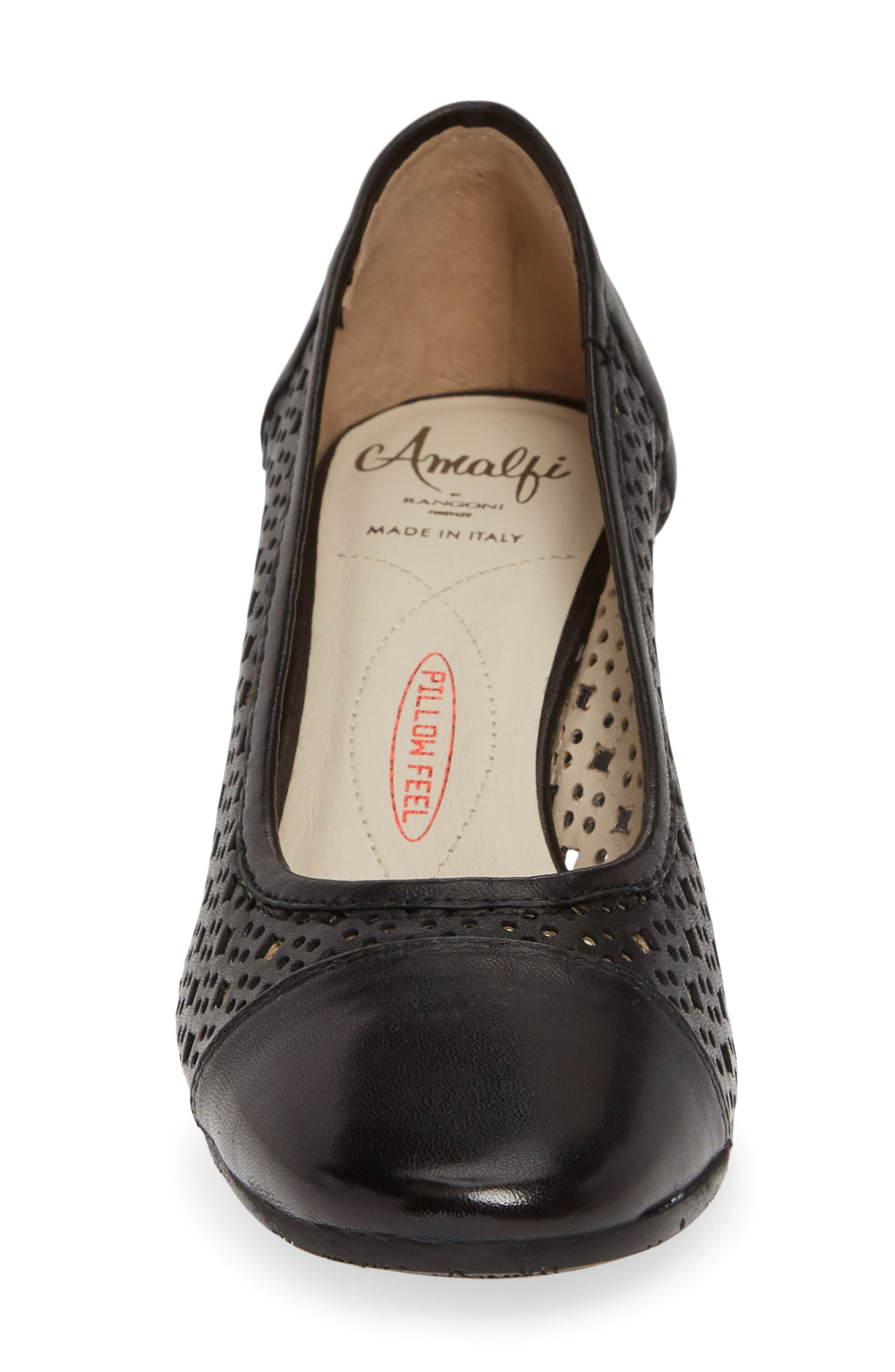 ,                             Rodeo Perforated Pump,                             Alternate thumbnail 4, color,                             BLACK LEATHER