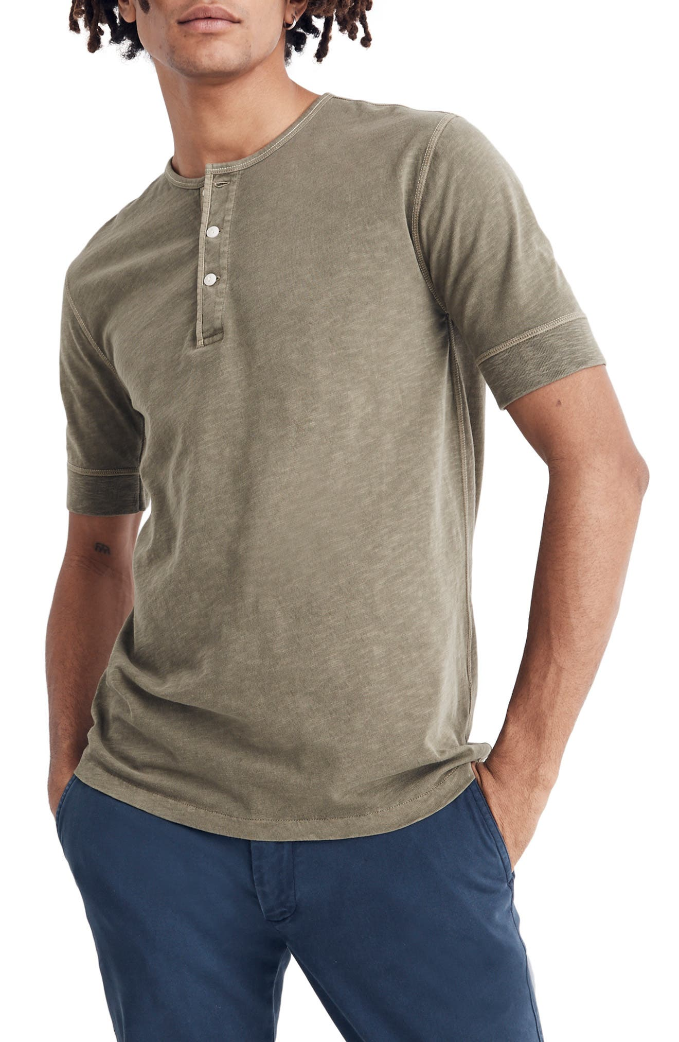 Garment Dye Henley T-Shirt