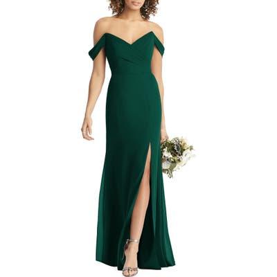 Social Bridesmaids Strapless V-Neck Chiffon Trumpet Gown, Green