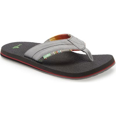 Sanuk Bear Cozy Tx Flip Flop, Grey