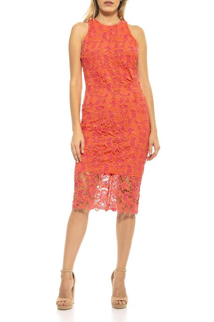 Image of Alexia Admor Reese Crochet Lace Midi Dress
