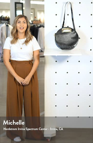 Danni Vegan Leather Round Top Handle Bag, sales video thumbnail