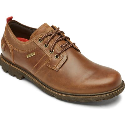 Rockport Rugged Bucks Ii Waterproof Plain Toe Derby- Brown