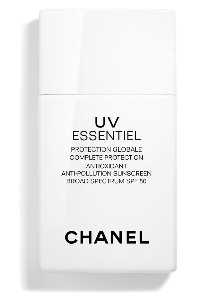 CHANEL UV ESSENTIEL <br />Multi-Protection Daily Defense Sunscreen Anti-Pollution Broad Spectrum SPF 50, Main, color, NONE
