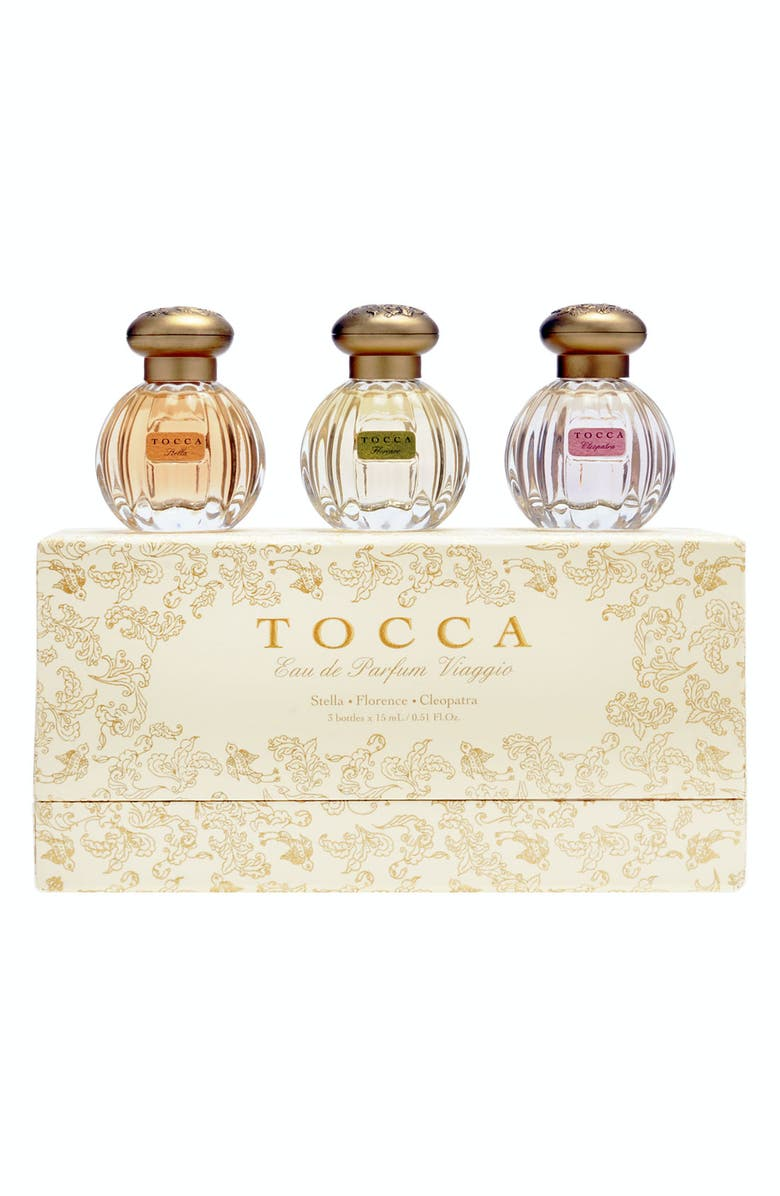TOCCA Eau de Parfum Viaggio Travel Fragrance Set, Main, color, NO COLOR