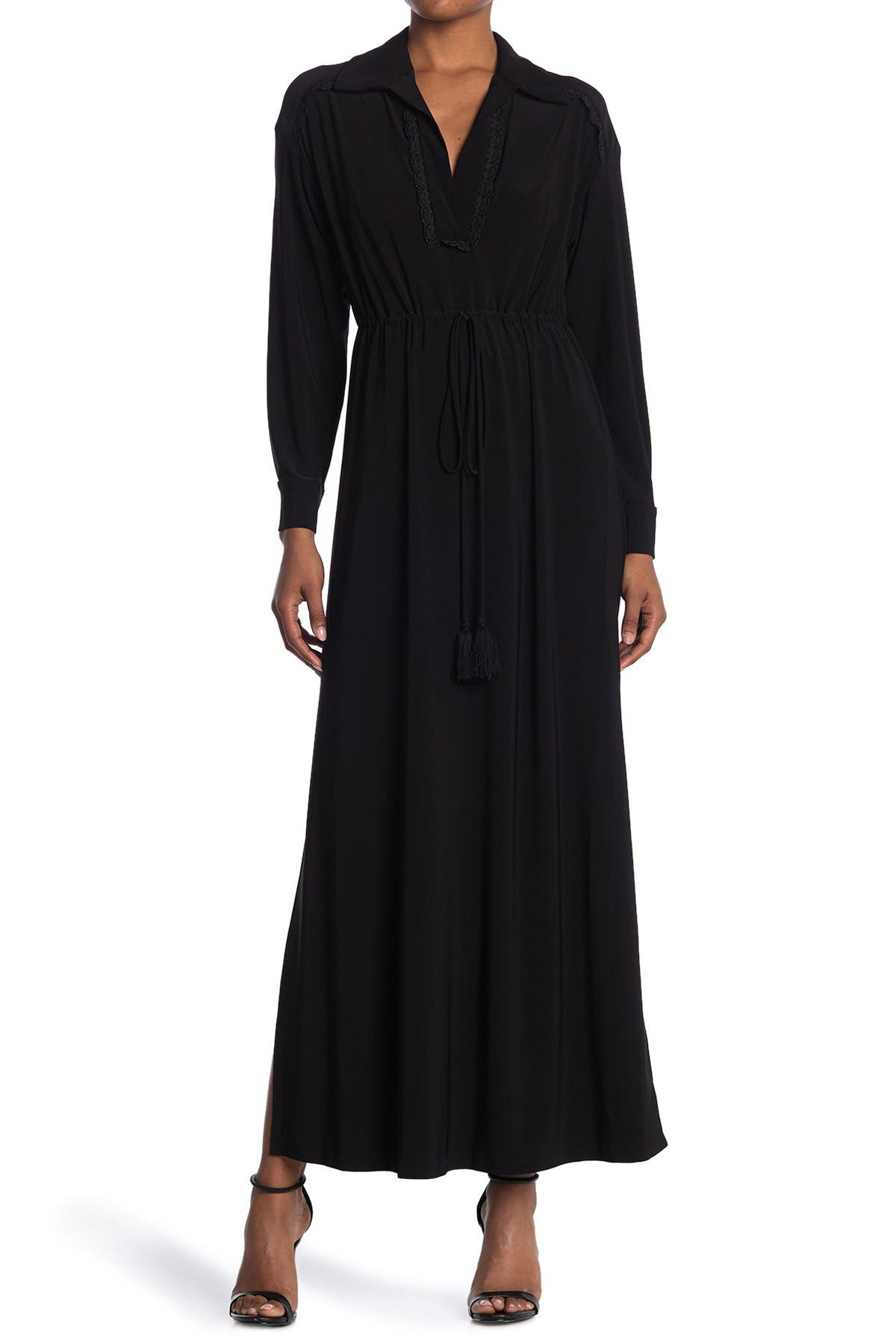 Image of Taylor Solid Jersey Maxi Shirt Dress