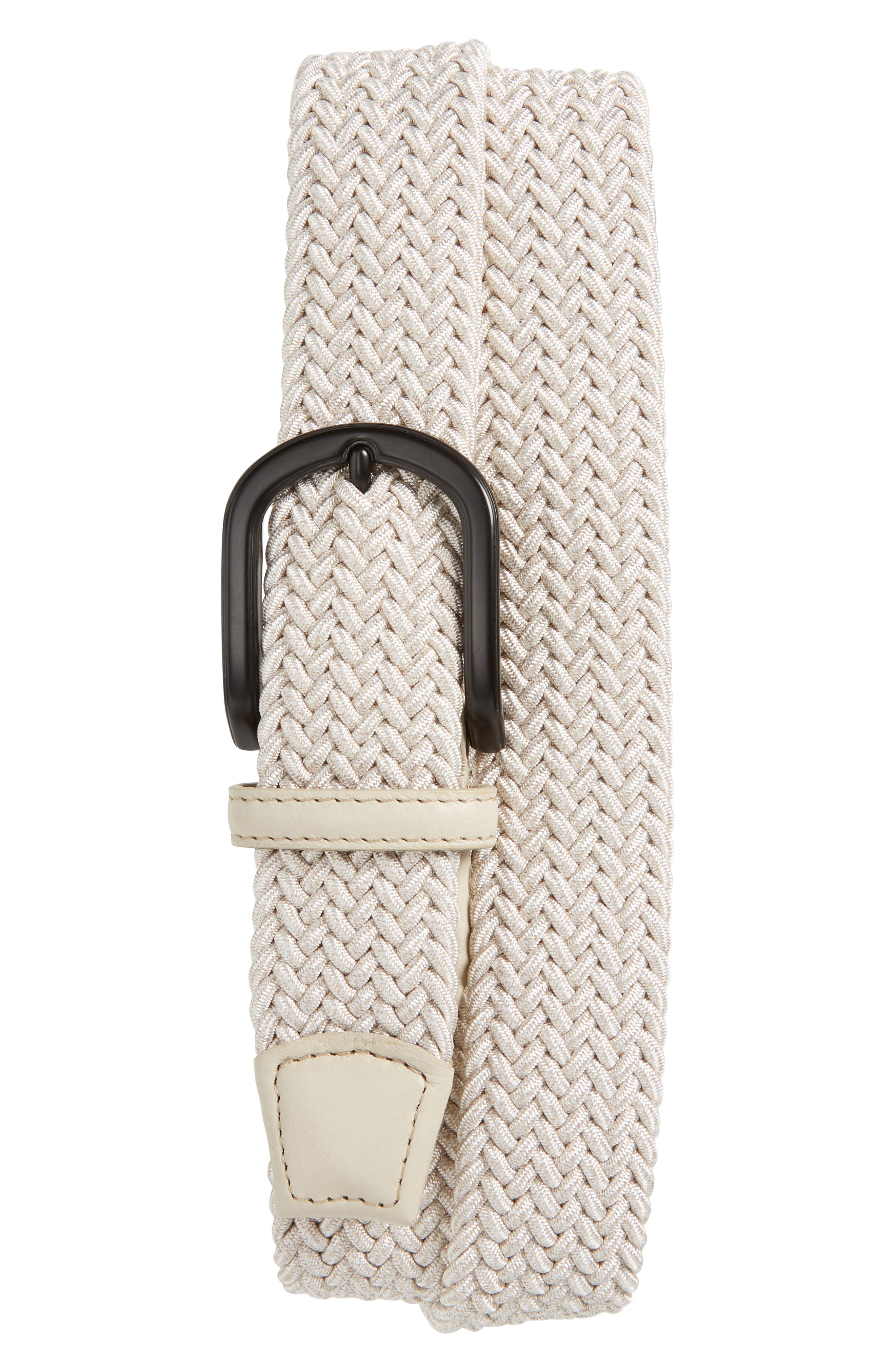Stretchy Italian fibers mean a flexible fit in this American-made belt with versatile charm. Style Name: Torino Braided Melange Belt. Style Number: 5834334. Available in stores.