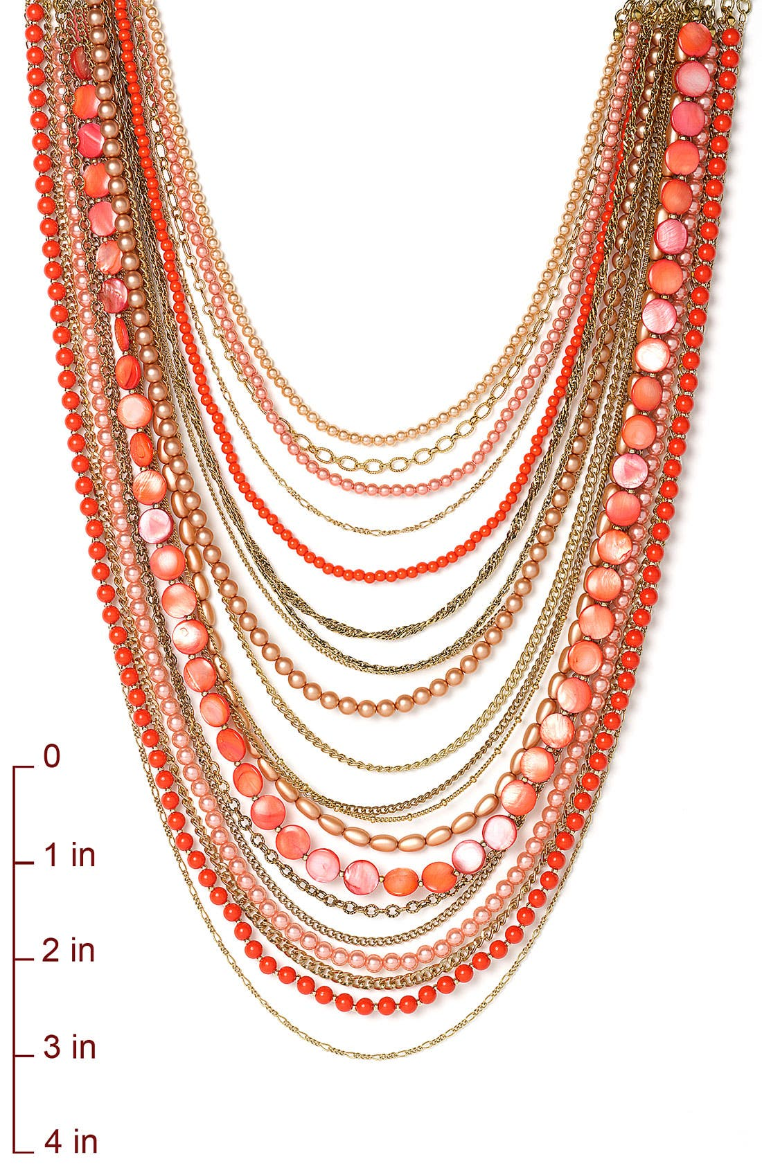 ,                             Beaded Long Multistrand Necklace,                             Alternate thumbnail 3, color,                             001