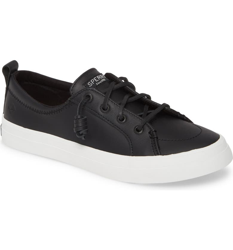 SPERRY Crest Vibe Sneaker, Main, color, BLACK/ BLACK LEATHER