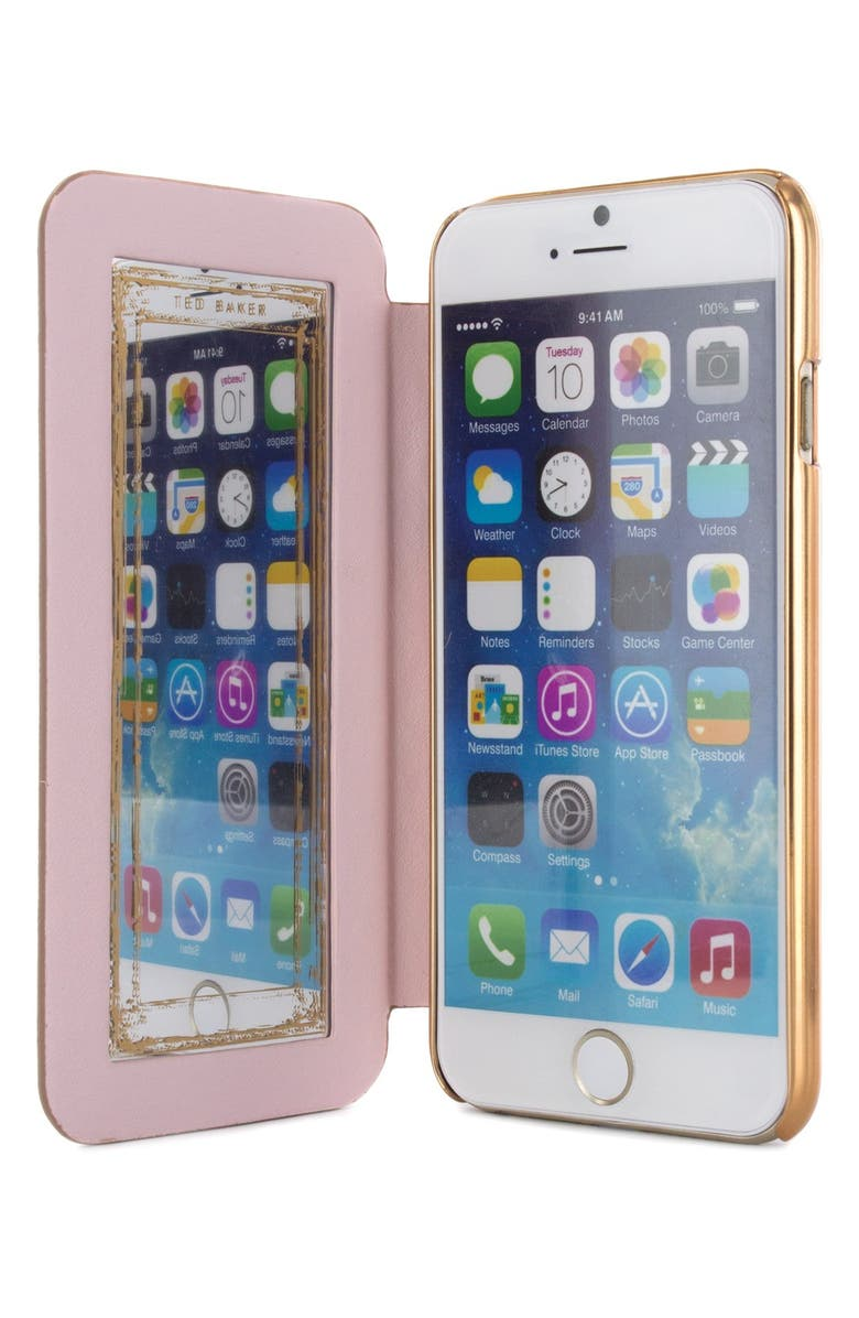 TED BAKER LONDON Sarita iPhone 6 Plus/6s Plus Folio Case, Main, color, 220