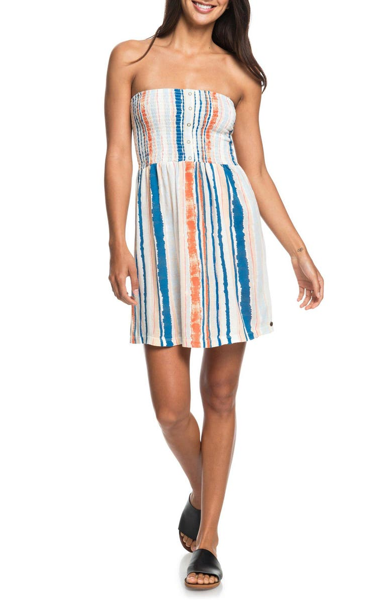 ROXY Summerland Party Sundress, Main, color, MARSHMALLOW RIVER