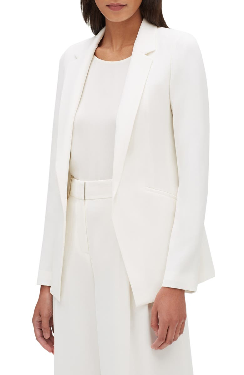 LAFAYETTE 148 NEW YORK Luther Finesse Crepe Jacket, Main, color, CLOUD