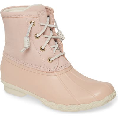 Sperry Saltwater Waterproof Rain Boot, Pink
