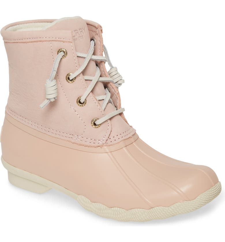 SPERRY Saltwater Waterproof Rain Boot, Main, color, BLUSH LEATHER
