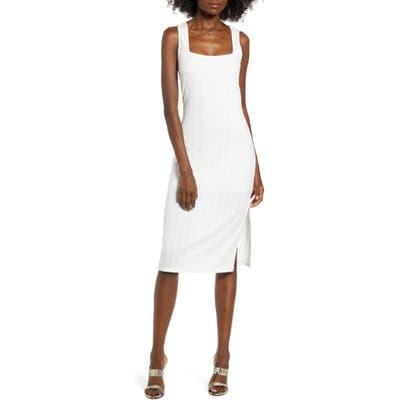 Row A Rib Midi Dress, Ivory