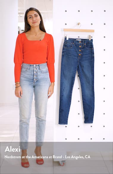 11-Inch High Rise Skinny Jeans: Button Front Edition, sales video thumbnail