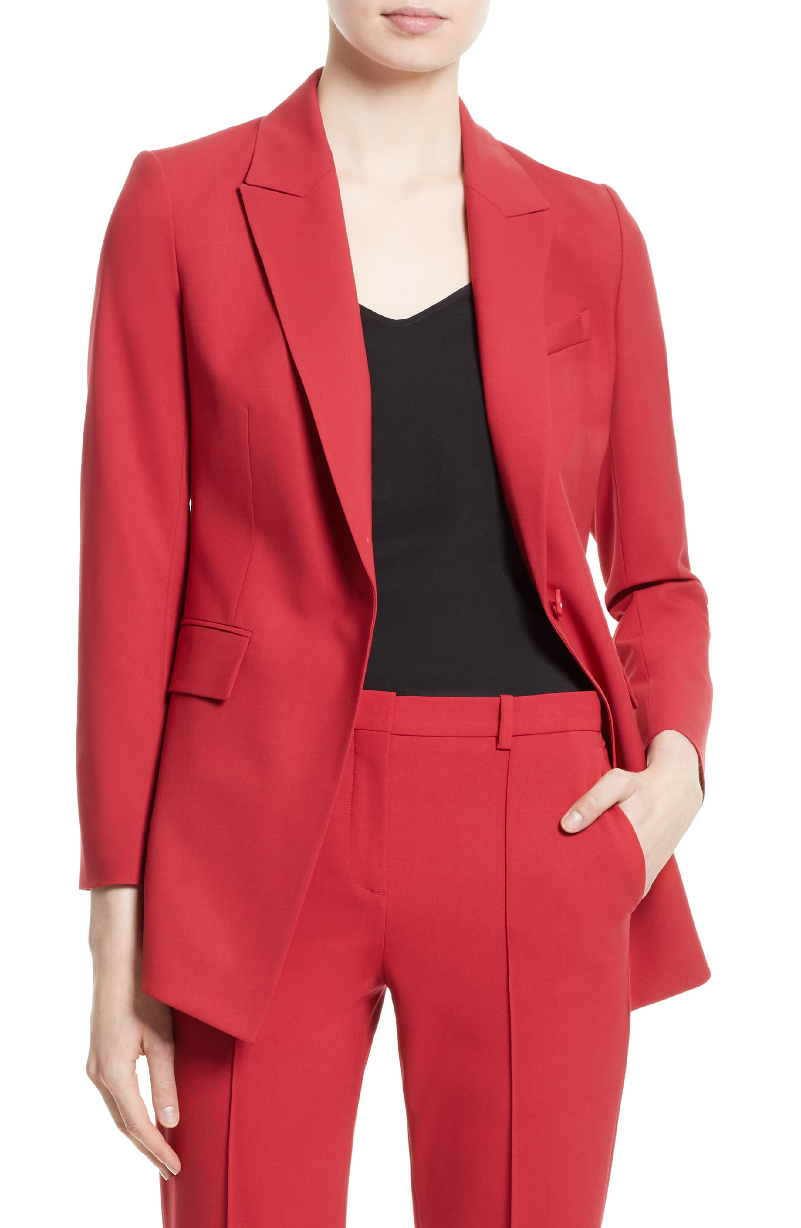 Image of Theory Etienette B Good Wool Blend Suit Jacket