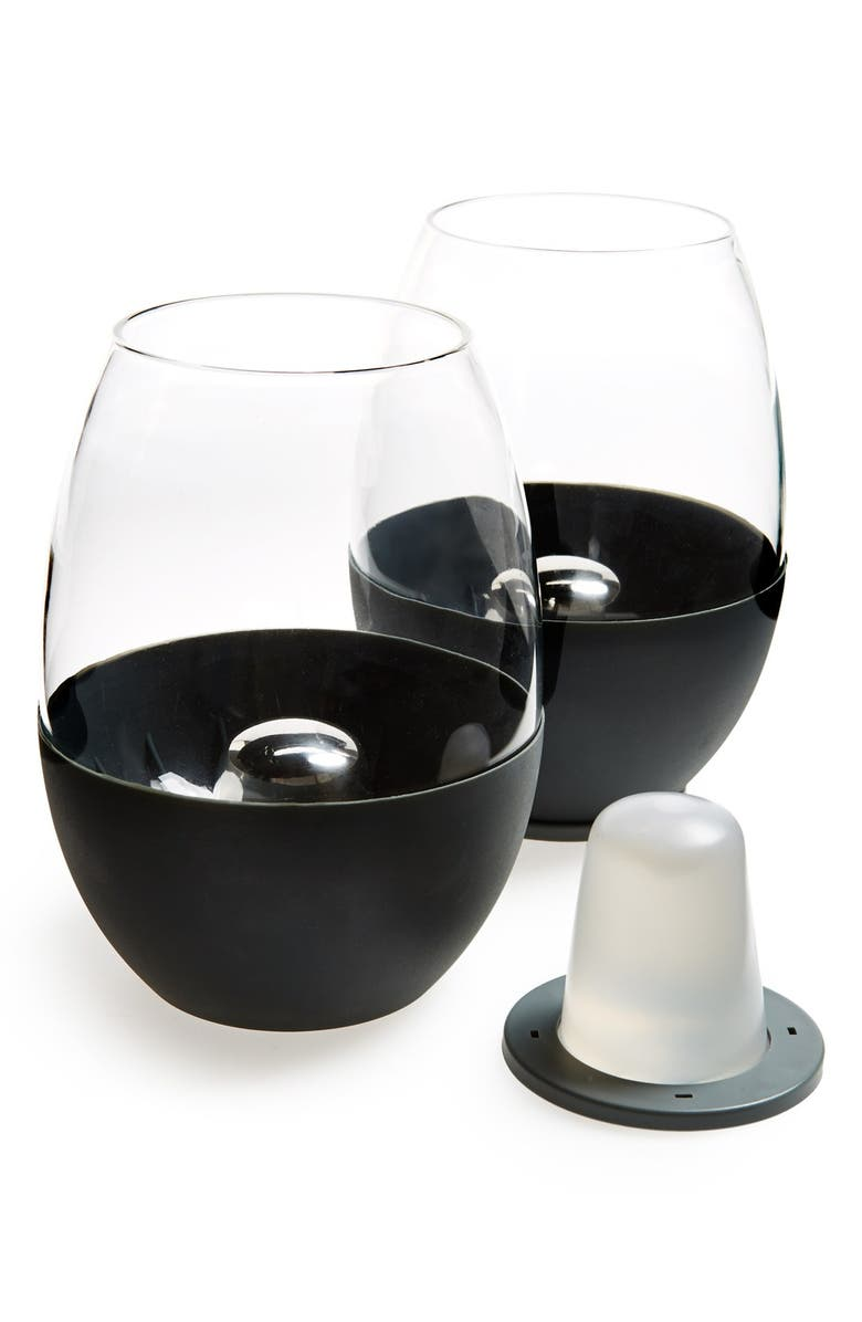 SOIREE 'Dimple Glass - Stemless' Self-Chilling Glassware Set, Main, color, 100