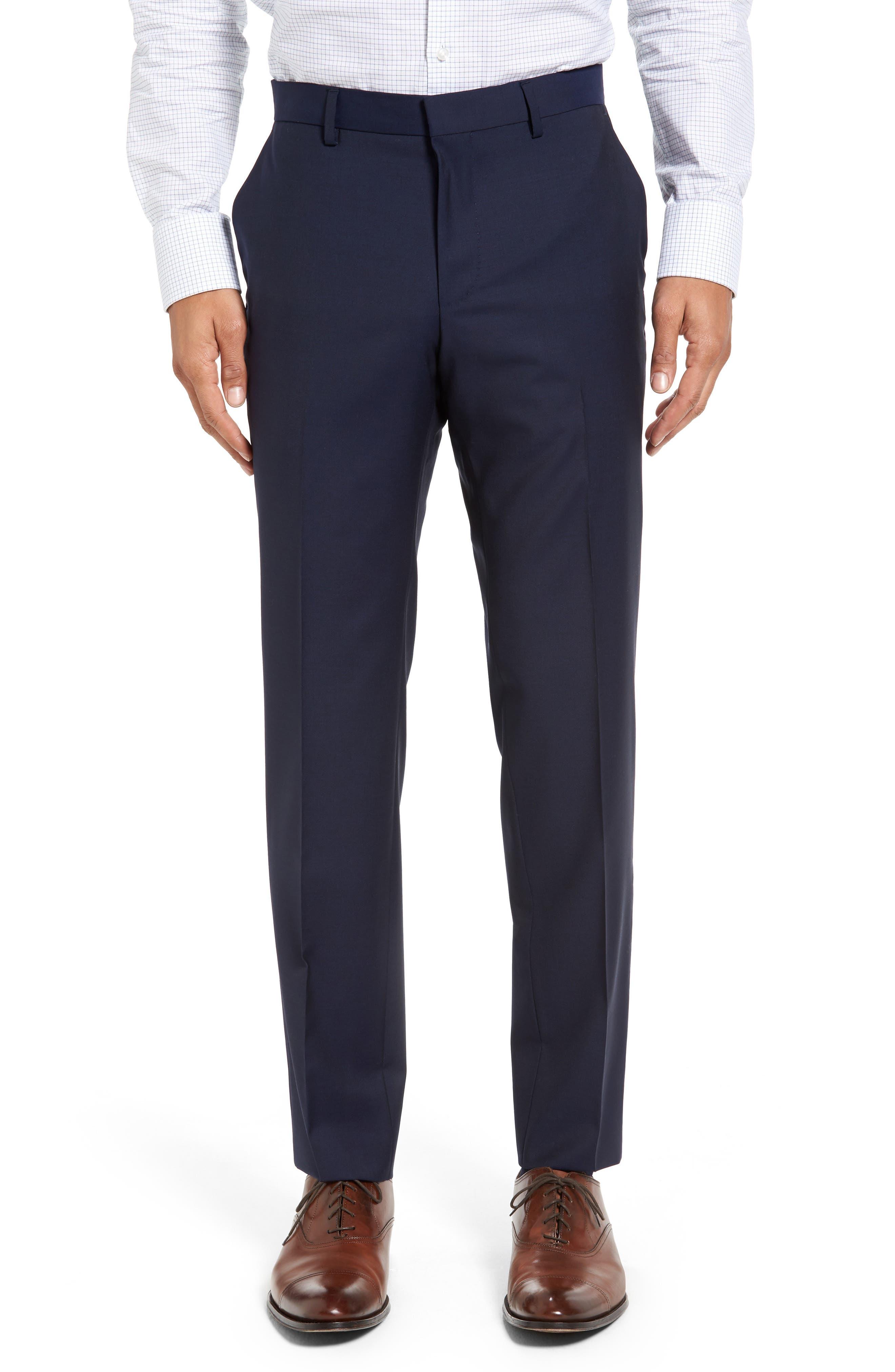 ,                             Huge/Genius Trim Fit Navy Wool Suit,                             Alternate thumbnail 6, color,                             410