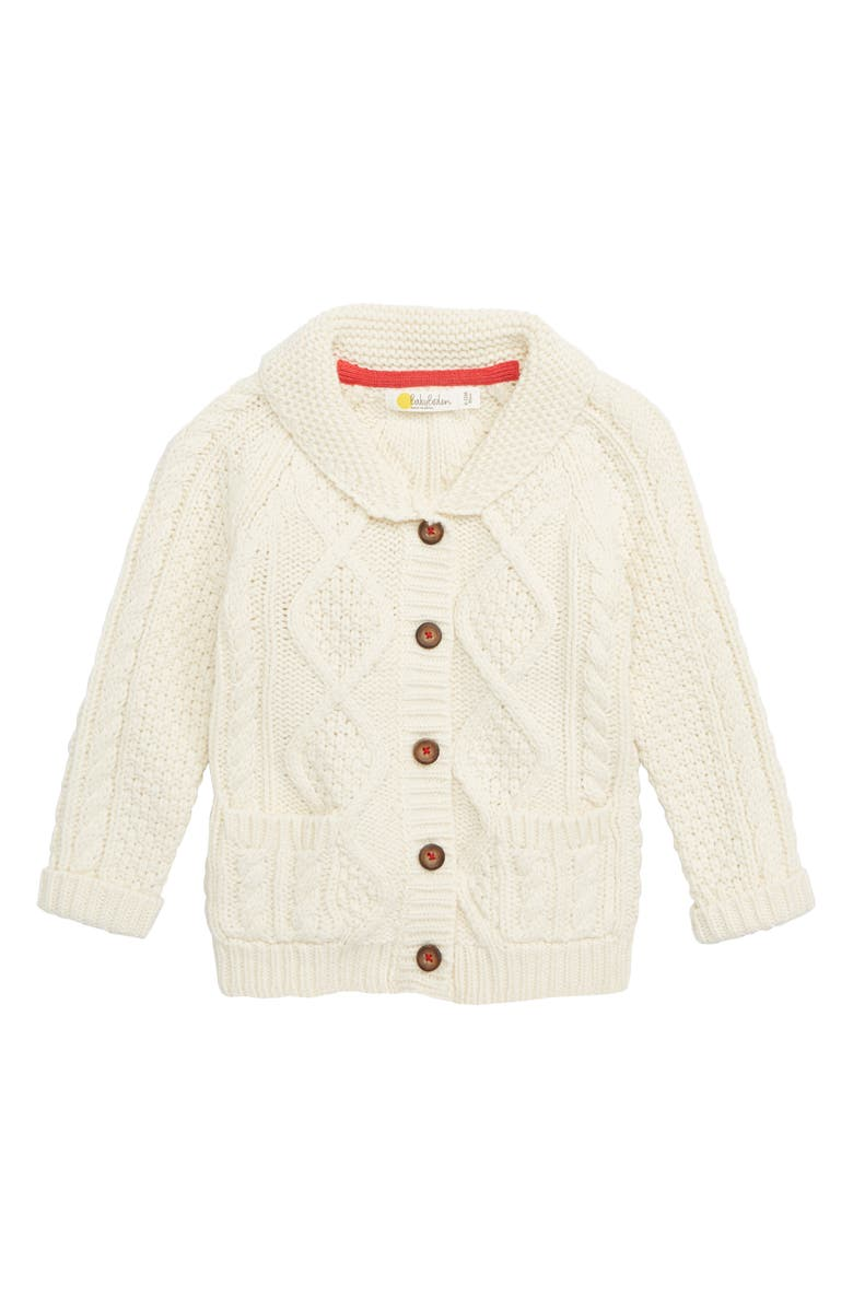 MINI BODEN Cable Knit Cardigan, Main, color, 900