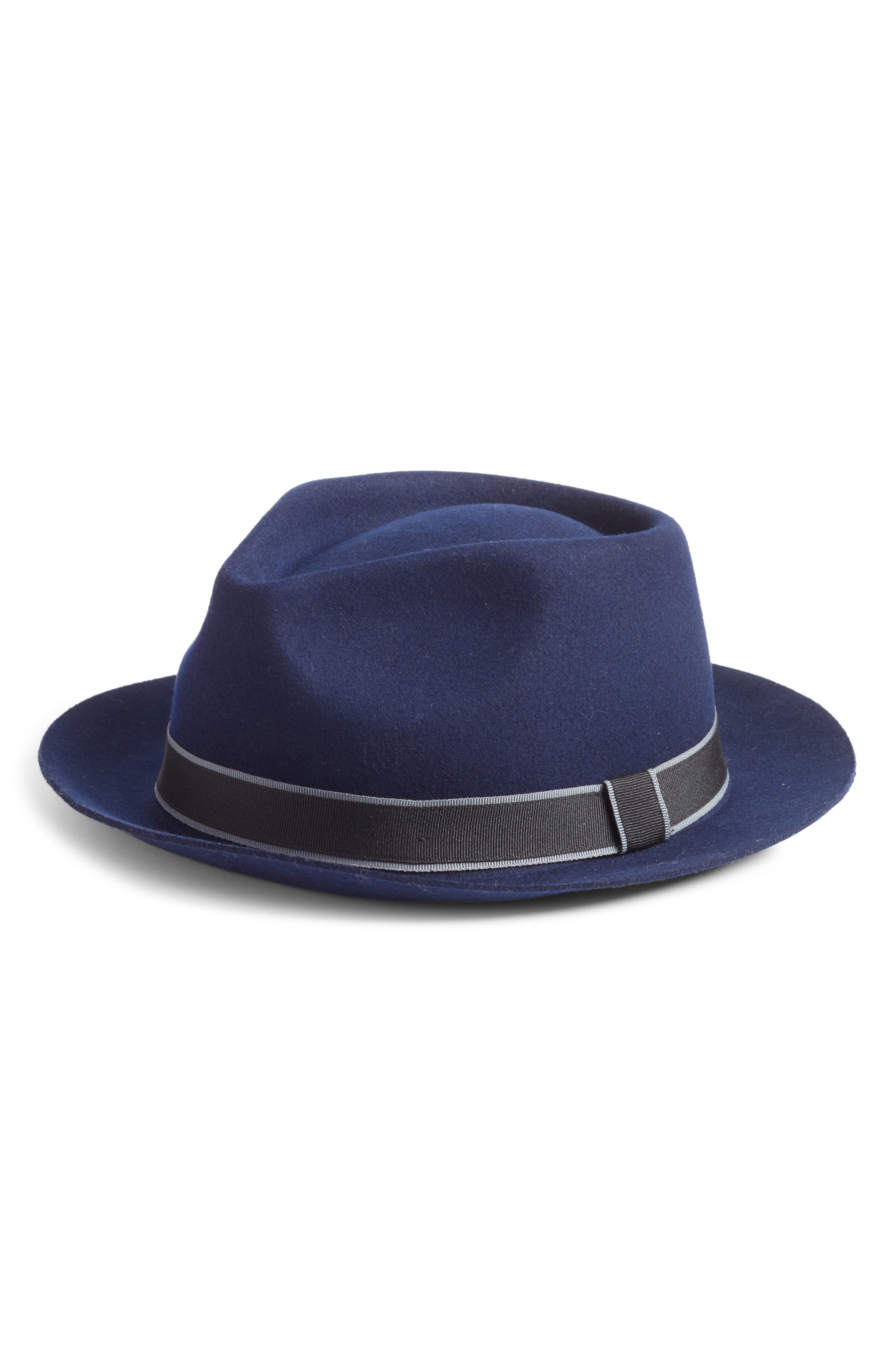 . In The Navy Wool Fedora