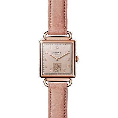 Shinola Cass Leather Strap Watch, 2m
