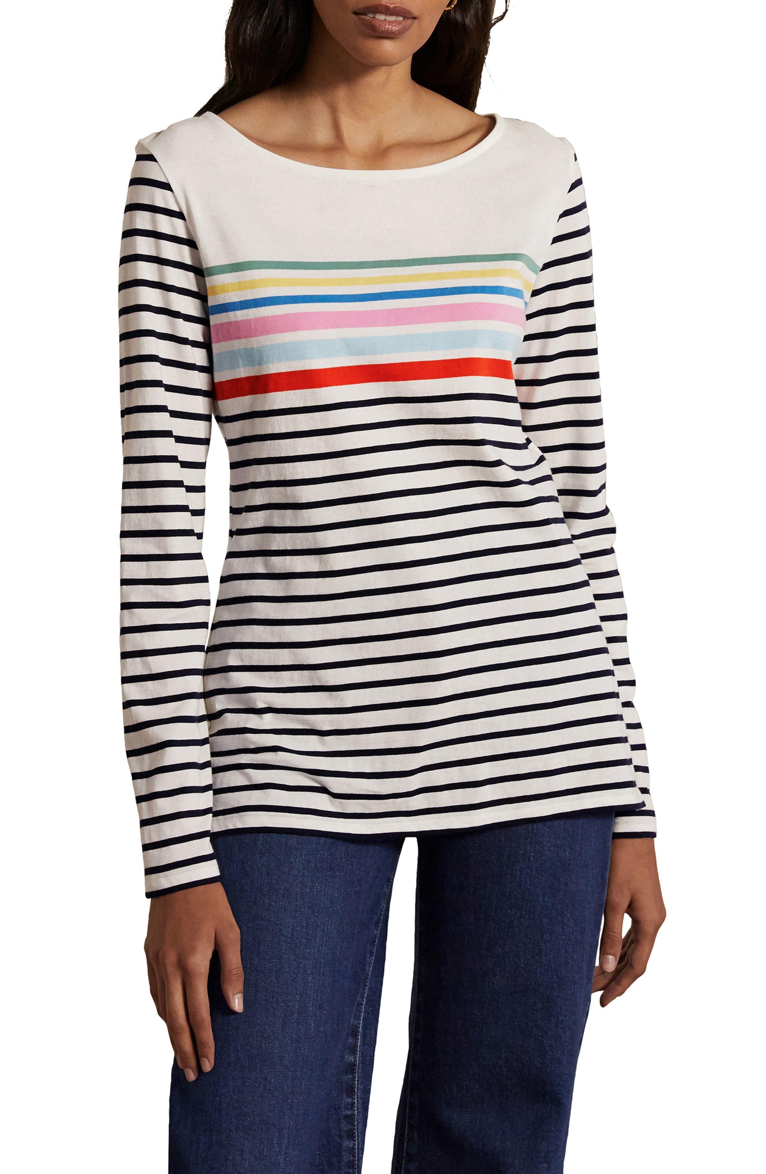 Boden Breton Stripe Long Sleeve Top