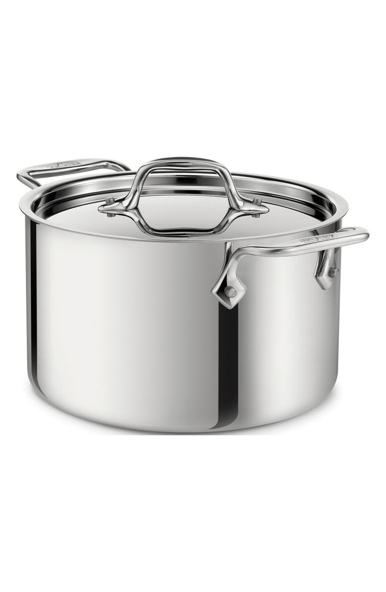 ALL-CLAD 4-Quart Casserole with Lid, Main, color, STAINLESS STEEL