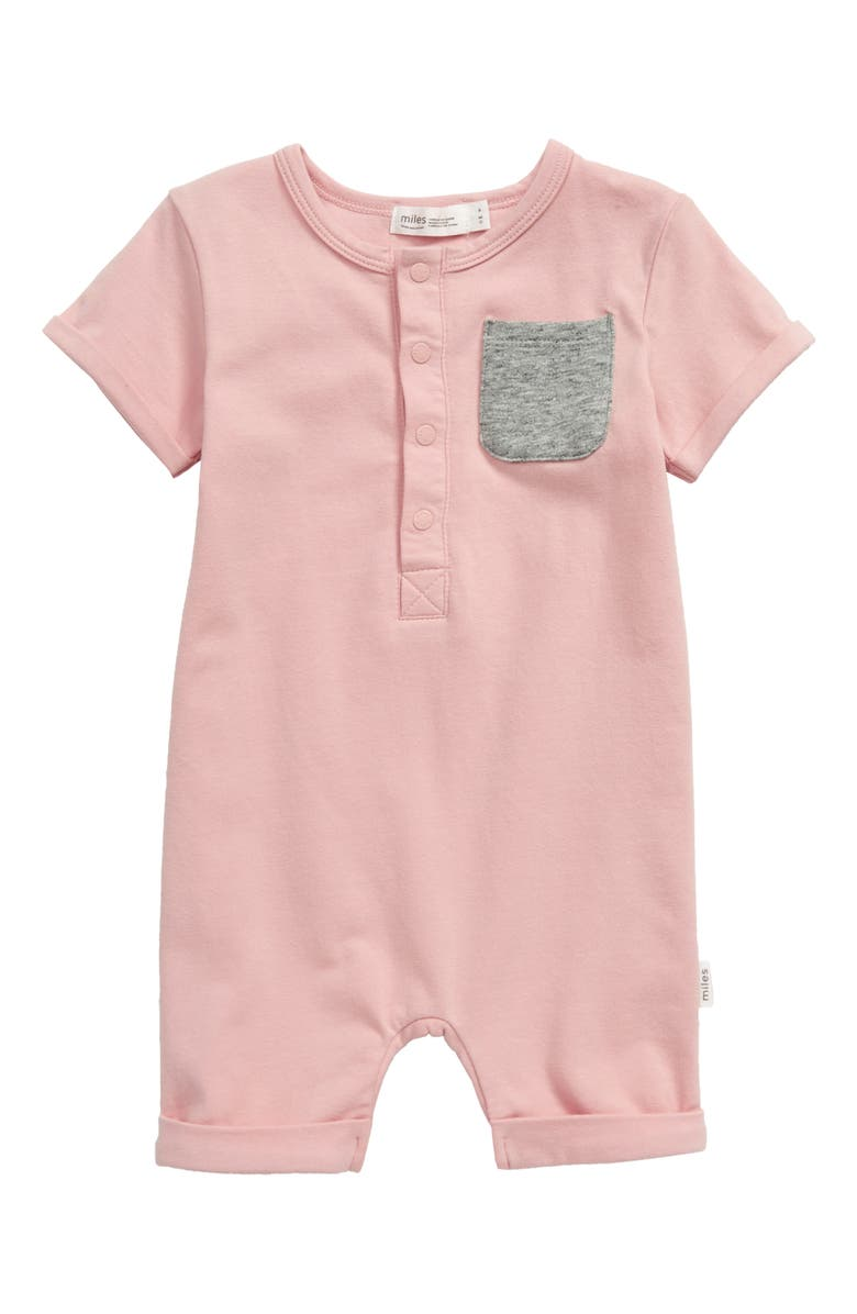 MILES baby Short Sleeve Romper, Main, color, 680