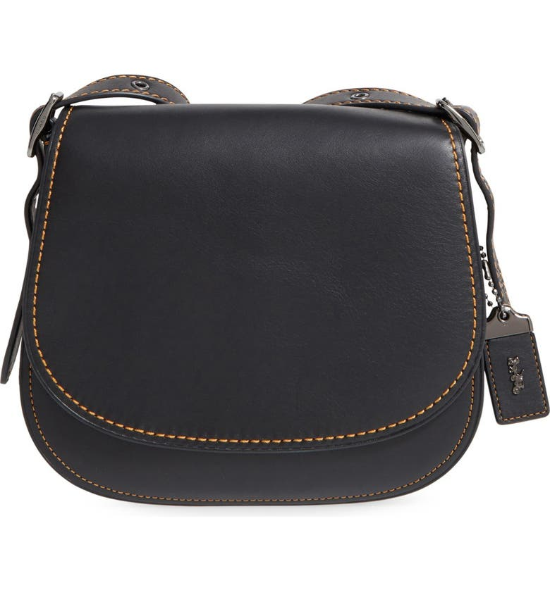 COACH 1941 '23' Leather Saddle Bag, Main, color, 001