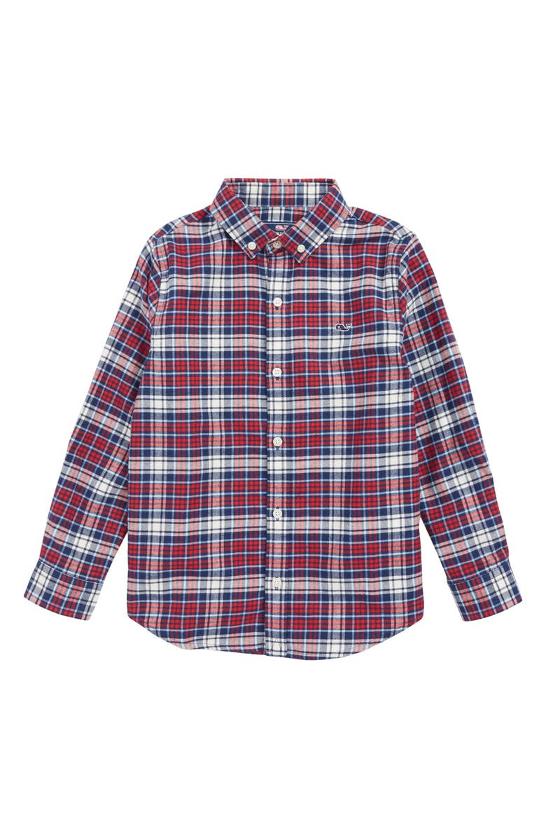 447ac72e vineyard vines Tower Ridge Flannel Shirt (Toddler Boys & Little Boys ...