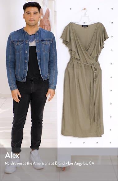Flutter Sleeve Wrap Dress, sales video thumbnail