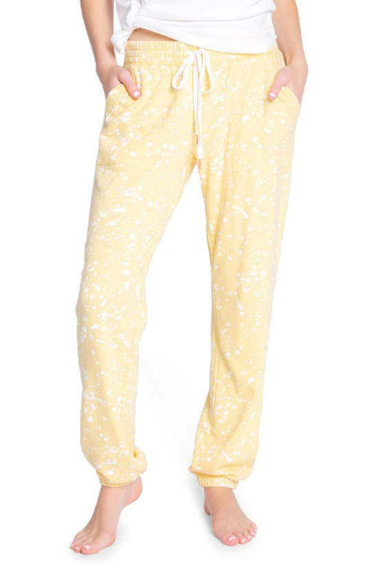 PJ SALVAGE Cottons FLICK OF THE BRUSH LOUNGE JOGGERS
