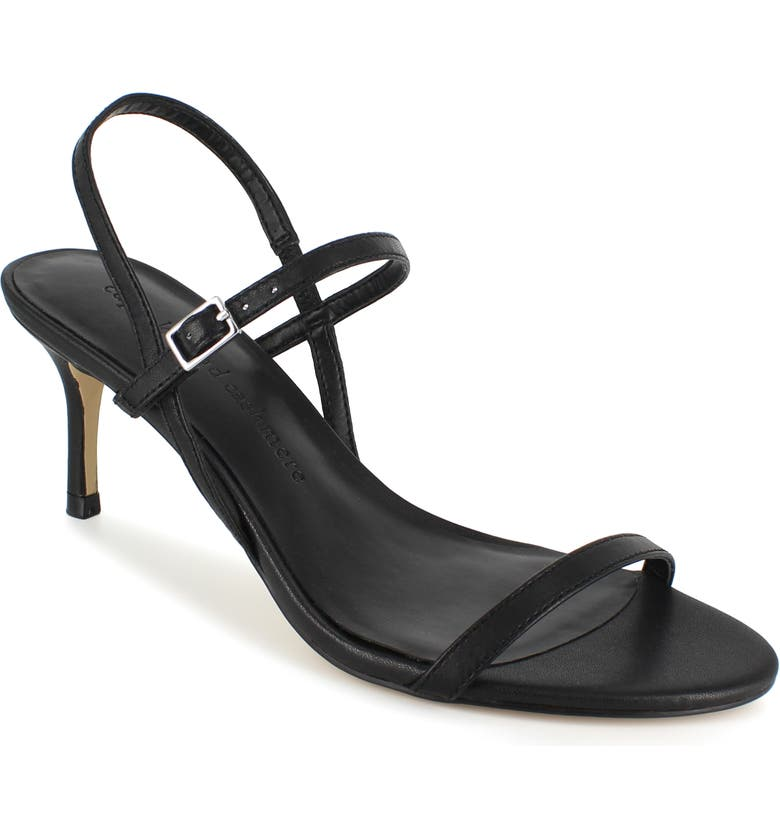 CUPCAKES AND CASHMERE Alexane Sandal, Main, color, BLACK LEATHER
