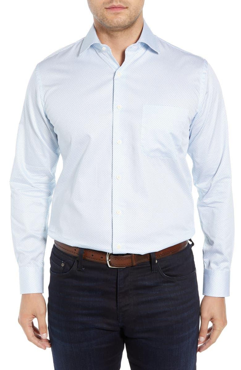PETER MILLAR Sicily Regular Fit Sport Shirt, Main, color, 100