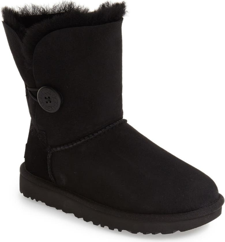 UGG<SUP>®</SUP> Bailey Button II Boot, Main, color, BLACK SUEDE