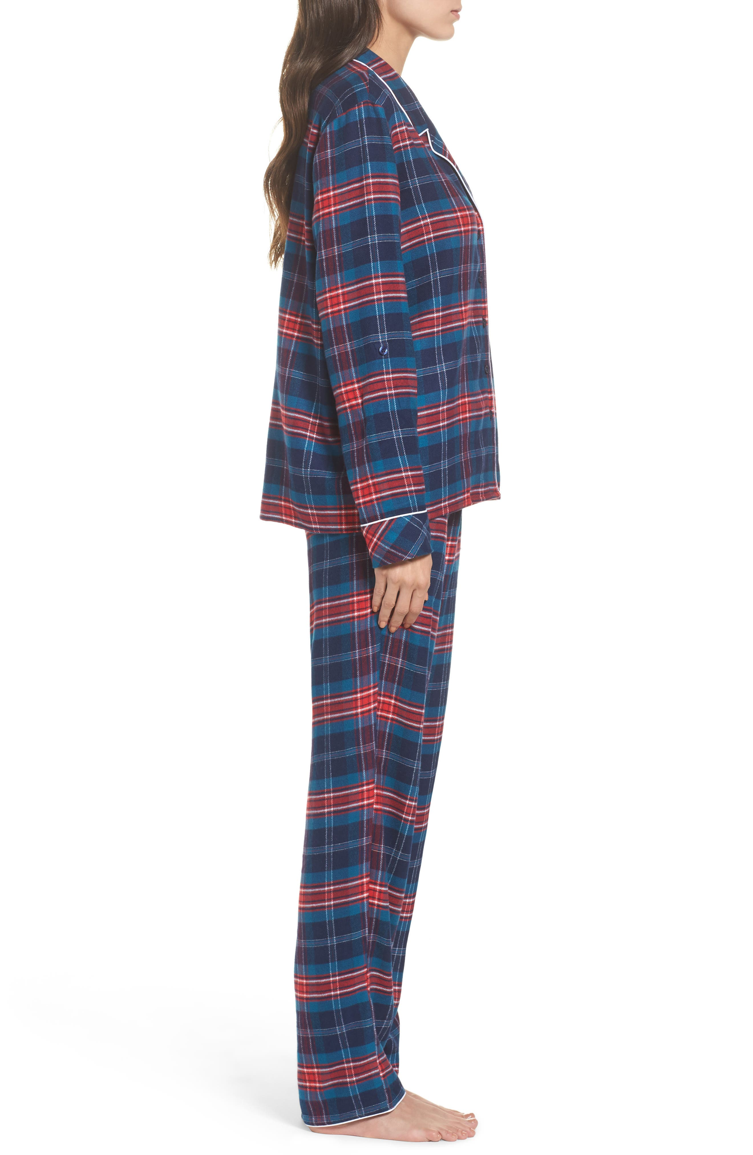,                             Lingerie Starlight Flannel Pajamas,                             Alternate thumbnail 43, color,                             400