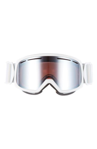 Smith Drift 180mm Snow Goggles In White Florals/ Blue Sensor