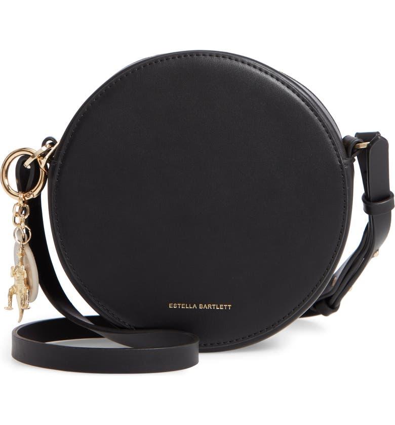 ESTELLA BARTLETT Emerson Faux Leather Round Bag, Main, color, 001
