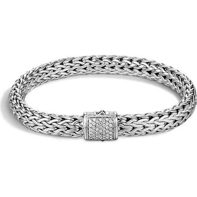 John Hardy Classic Chain 7.5Mm Diamond Bracelet
