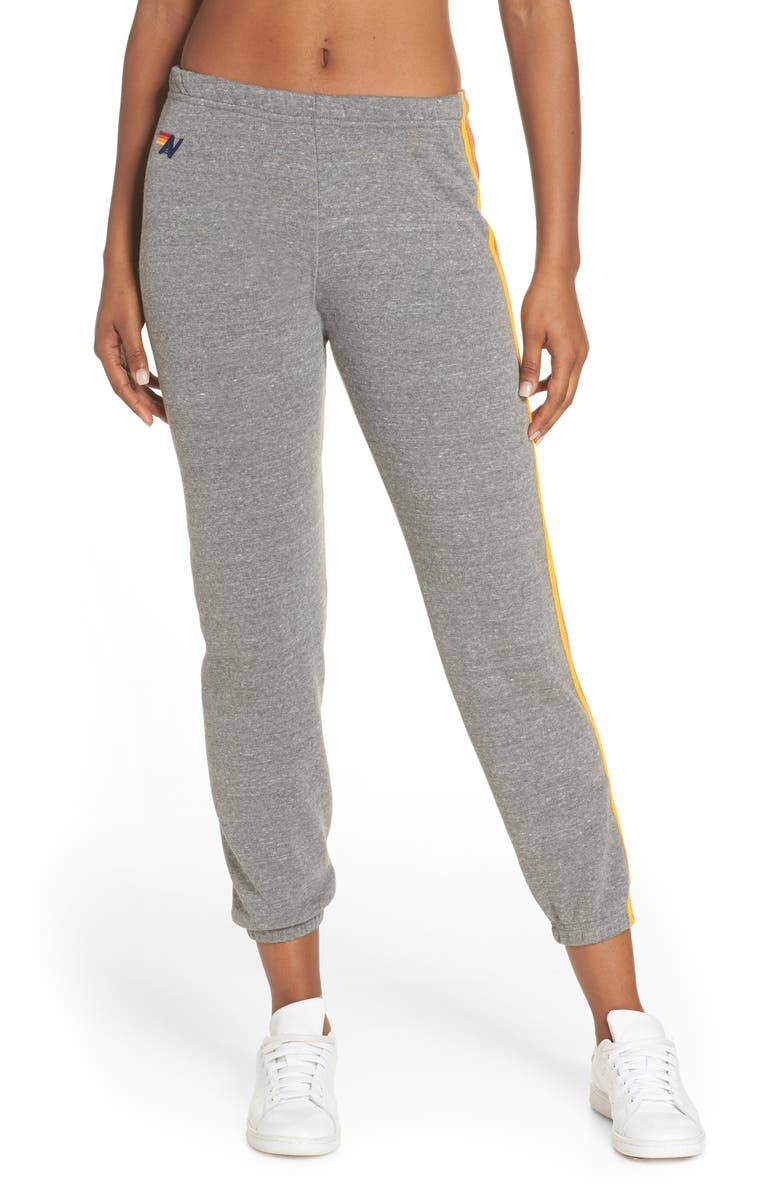 AVIATOR NATION Stripe Sweatpants, Main, color, 030