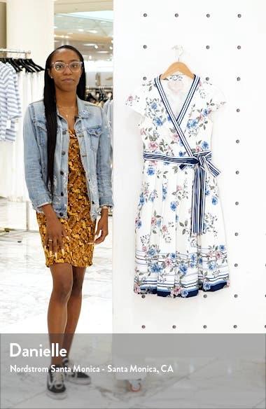 Teresa Floral & Stripe Cotton Wrap Dress, sales video thumbnail