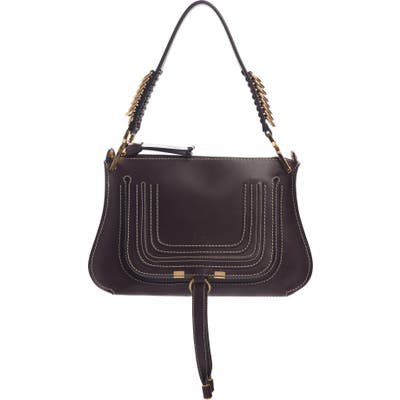 Chloe Marcie Leather Top Handle Bag - Black