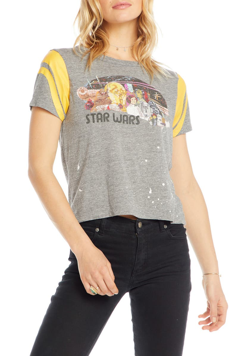 CHASER Star Wars Poster Tee, Main, color, STREAKY GREY