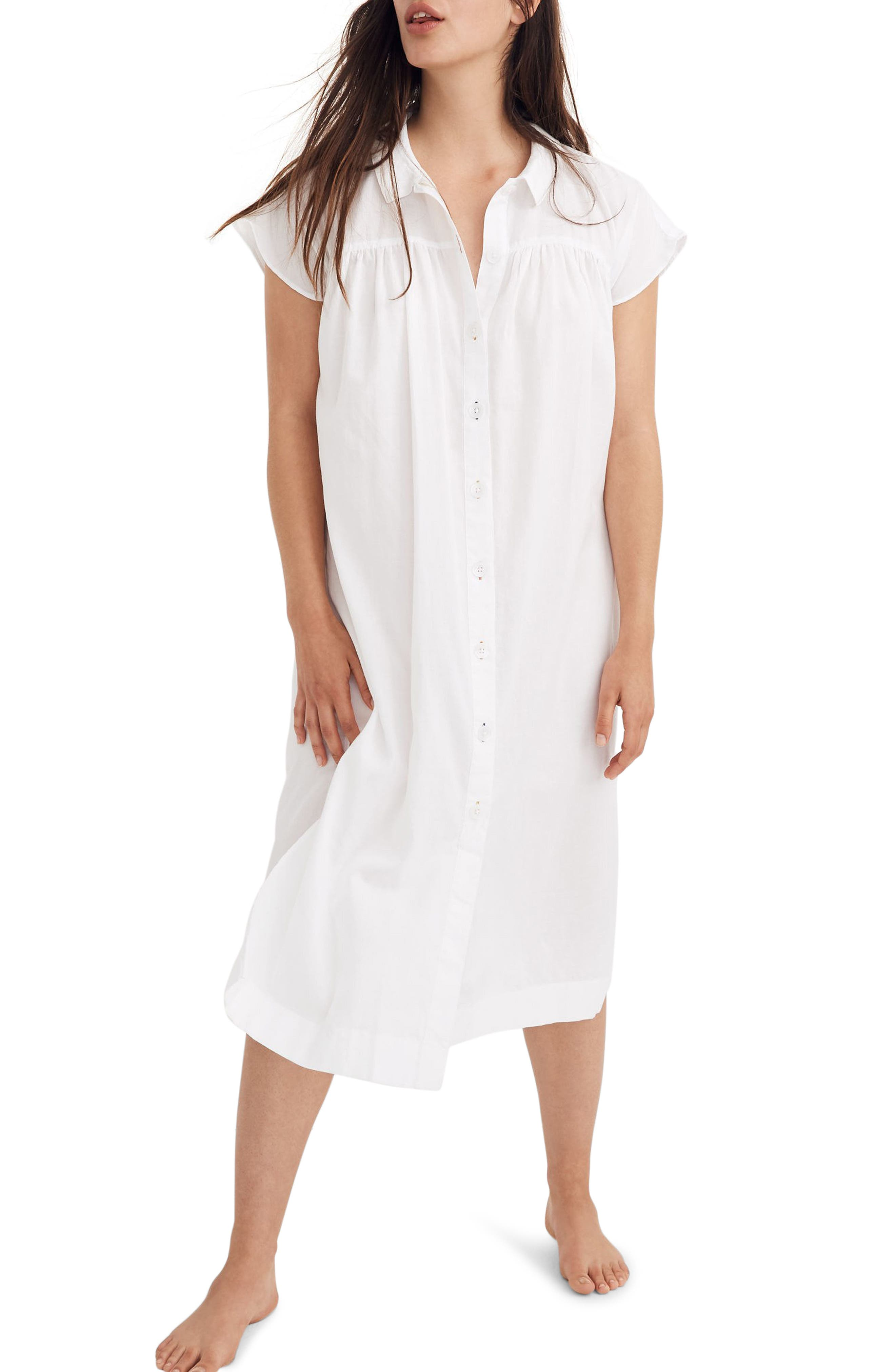 Madewell Tunic Sleep Dress, White