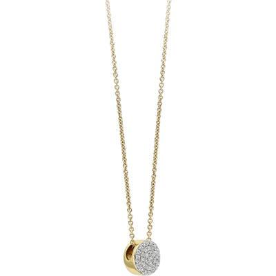 Monica Vinader Ava Diamond Button Pendant Necklace
