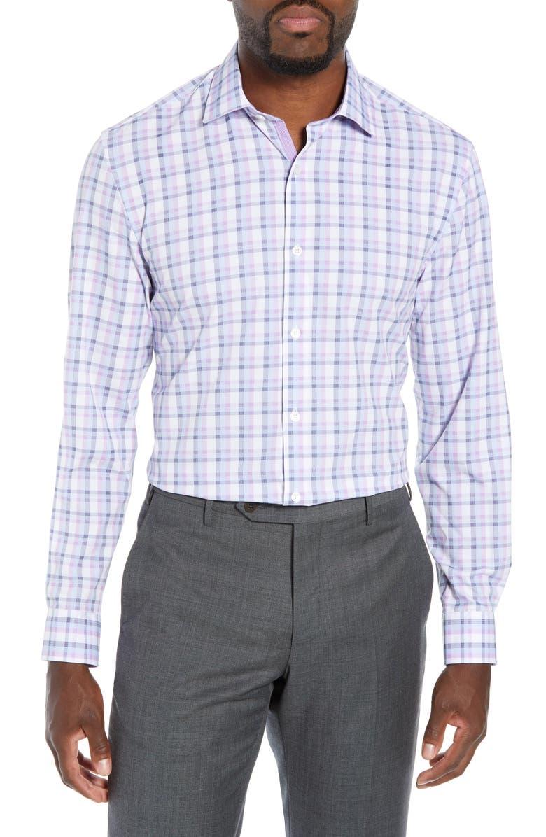 W.R.K Slim Fit Performance Stretch Plaid Dress Shirt, Main, color, 500