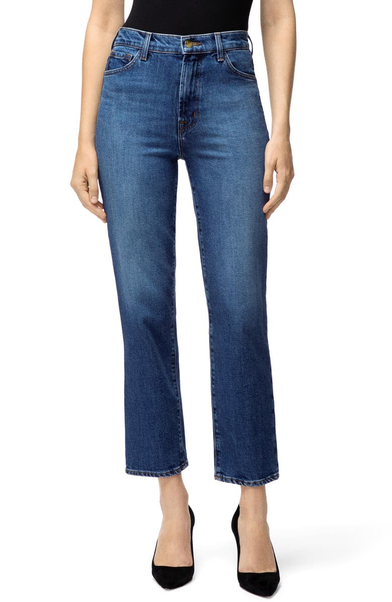 J BRAND Jules High Waist Ankle Straight Leg Jeans, Main, color, 457