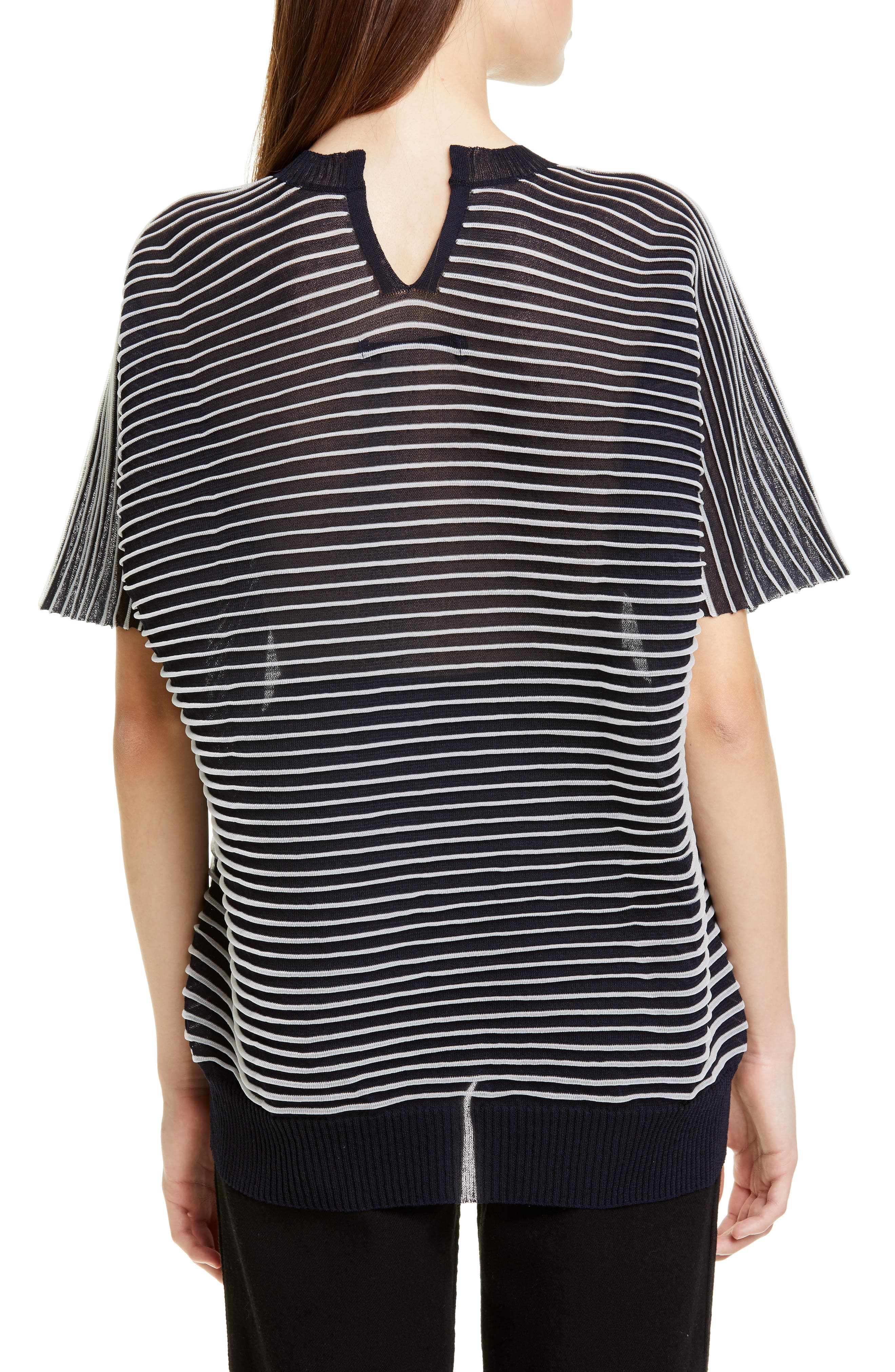 ,                             Ottoman Stripe Sweater,                             Alternate thumbnail 2, color,                             NAVY X CLEAR