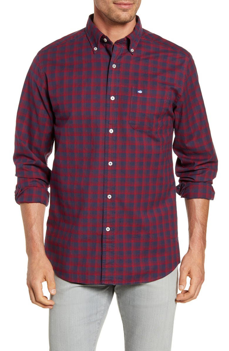 SOUTHERN TIDE Flight Deck Regular Fit Button-Down Oxford Shirt, Main, color, CHILI PEPPER